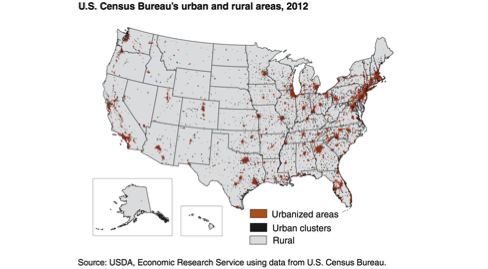 Figure 2. U.S. Census Bureau's Urban and Rural Areas